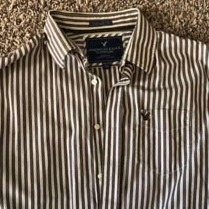 American eagle stripe dress shirt